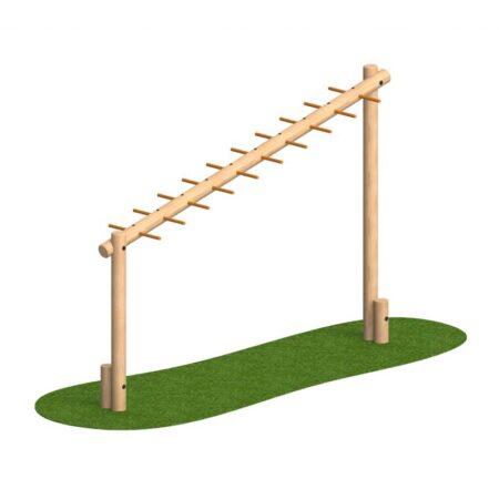 sloping-monkey-bar-log-1