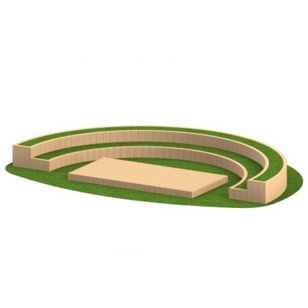 AMPHITHEATRE 2 TIER CURVED WITH STAGE product image 1