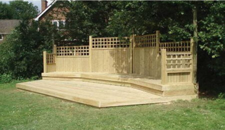 Two Tiered Stage - Rear Trellis Walls product image 1