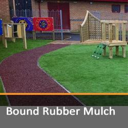 Bound Rubber Mulch