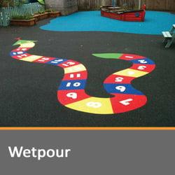 Wetpour