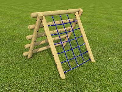 Log net climber