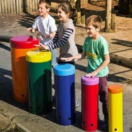 Rainbow coloured sambas play
