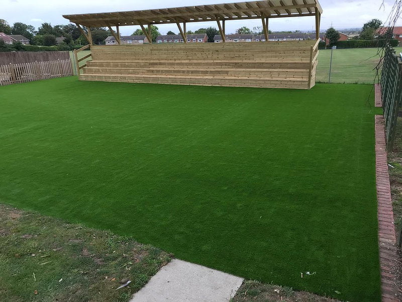 Artificial Grass and Grandstand